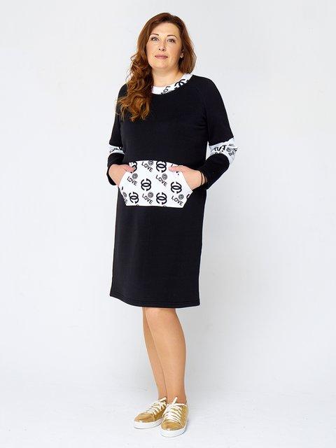 Сукня чорна з принтом MOONLIGHT 2599637