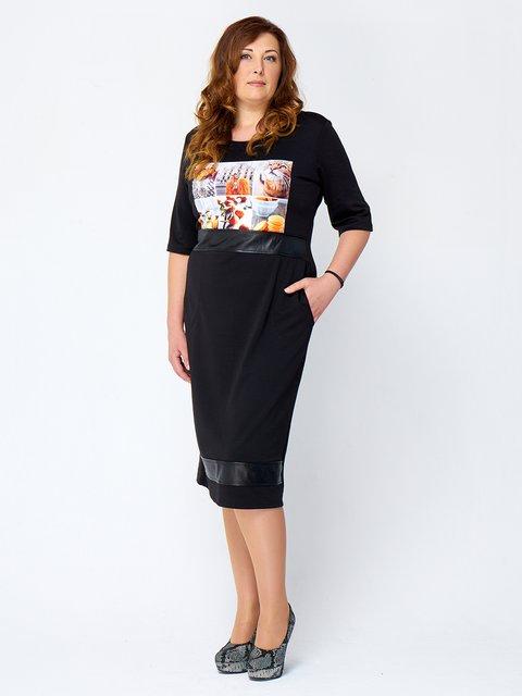 Платье черное с принтом MOONLIGHT 2599670
