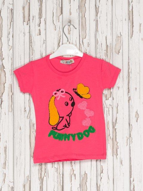 Футболка малиновая с аппликацией Dofa Kids 2599180