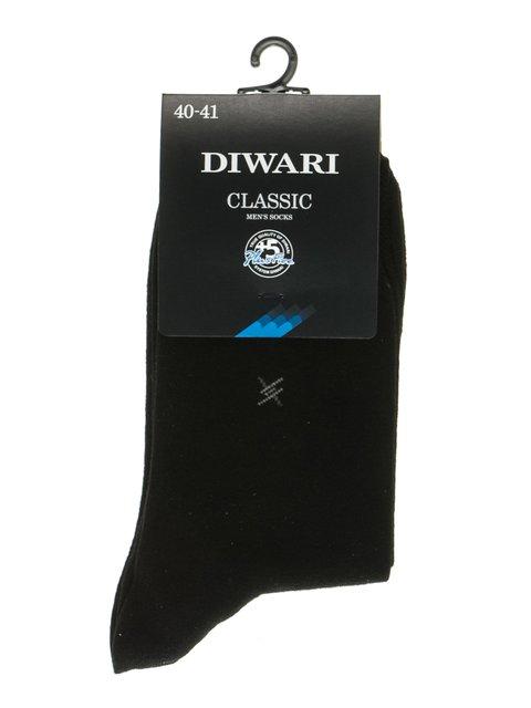 Носки черные с принтом DIWARI 2621648