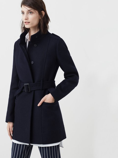Пальто темно-синє Mango 2593102