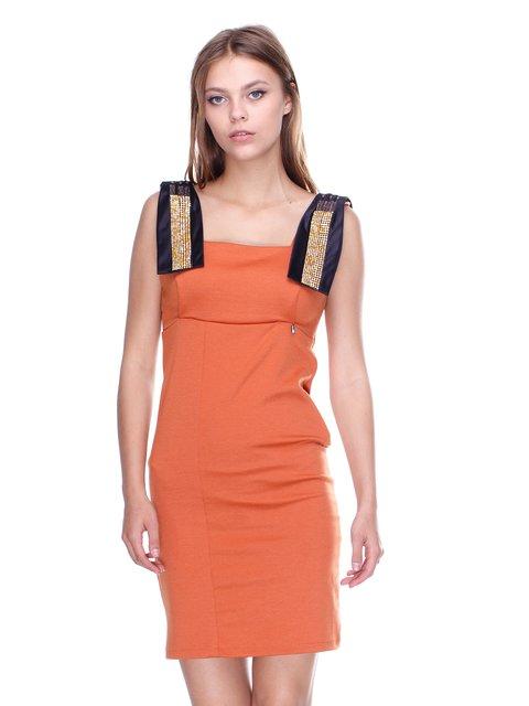 Платье терракотовое JUST-R 2638496