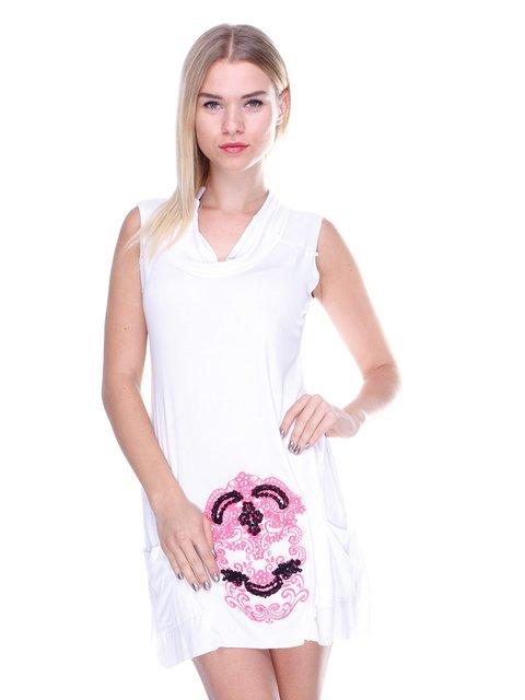 Сукня біла з малюнком JUST-R 2638511