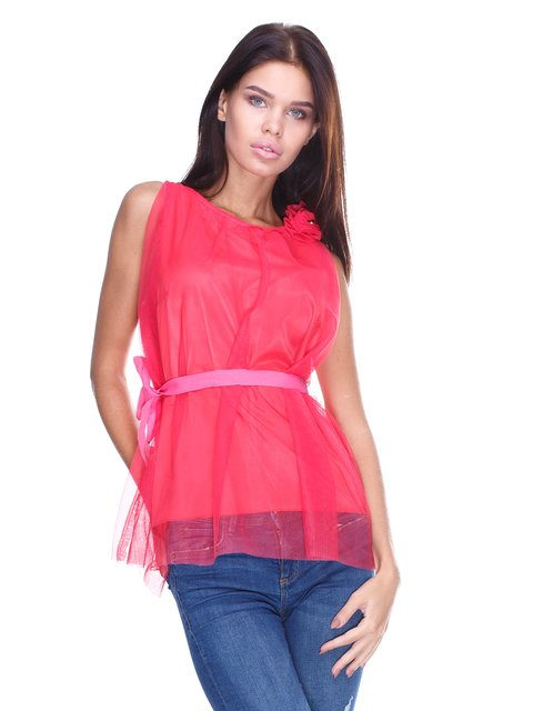 Блуза коралловая JUST-R 2645157