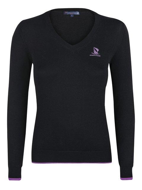 Пуловер черный Giorgio di Mare 2658814