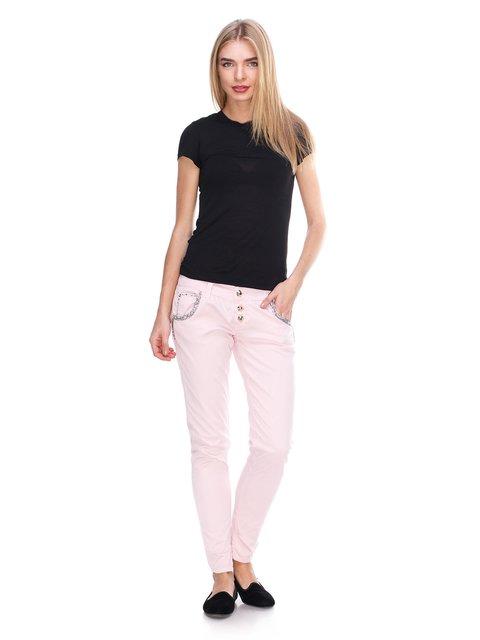 Джинсы розовые с декором JUST-R 2638825