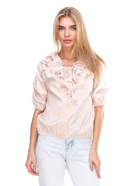 Блуза персикового кольору JUST-R 2645147