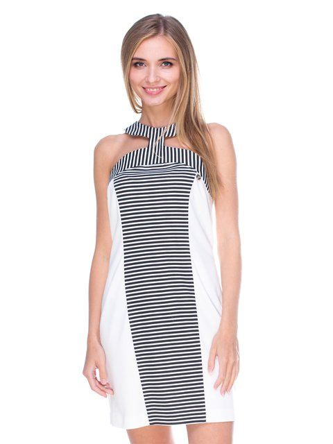 Сукня чорно-біла JUST-R 2638538
