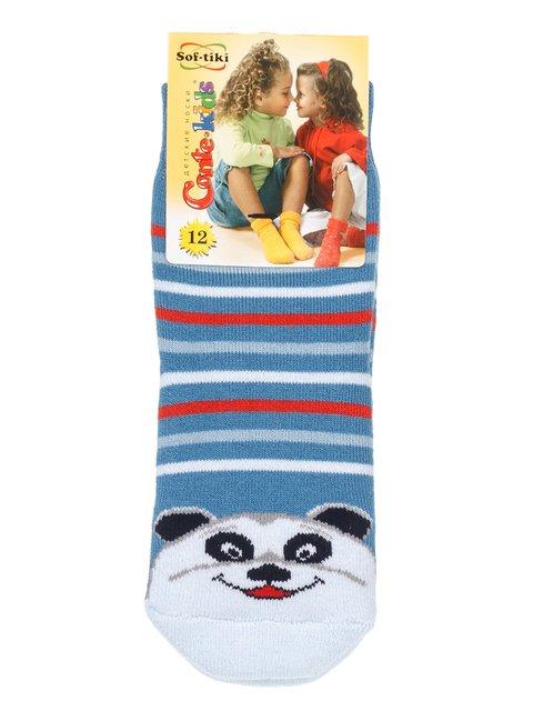 Шкарпетки блакитні з комбінованим принитом Conte Kids 2865817