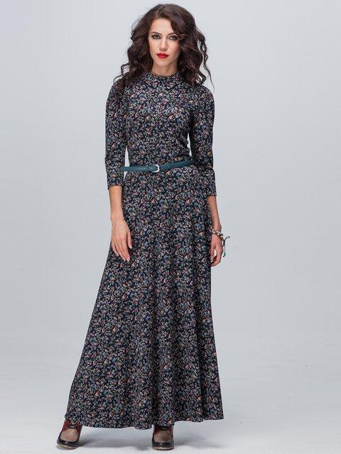 Платье темно-синее в принт Jet 2703946