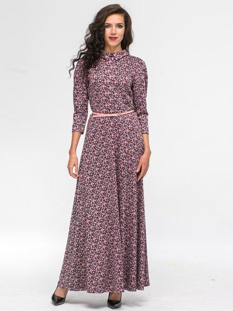 Платье розовое в принт Jet 2703947