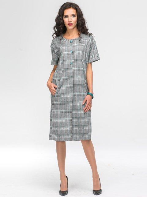 Платье серое в клетку Jet 2703956