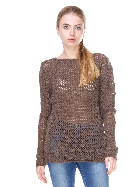 Джемпер коричневый Melcino 2699895