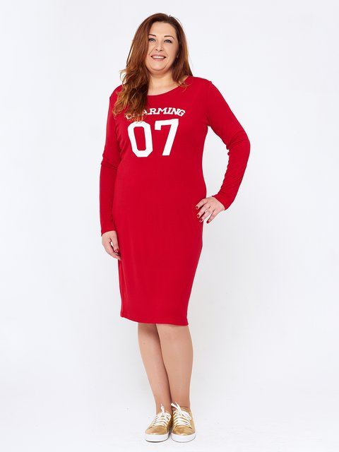 Сукня червона з принтом MOONLIGHT 2714698