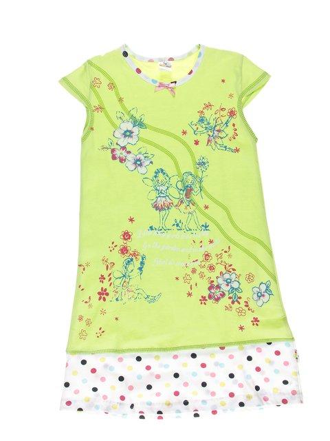 Сорочка нічна салатового кольору в принт KAZAN 2722357