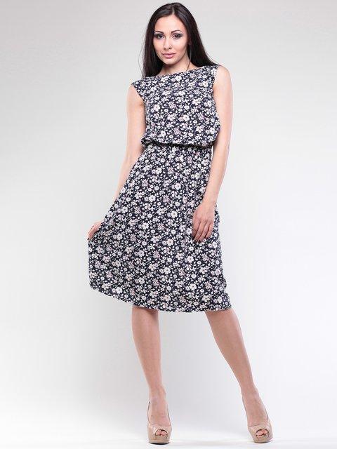 Платье черное в цветочный принт Dioni 2745957