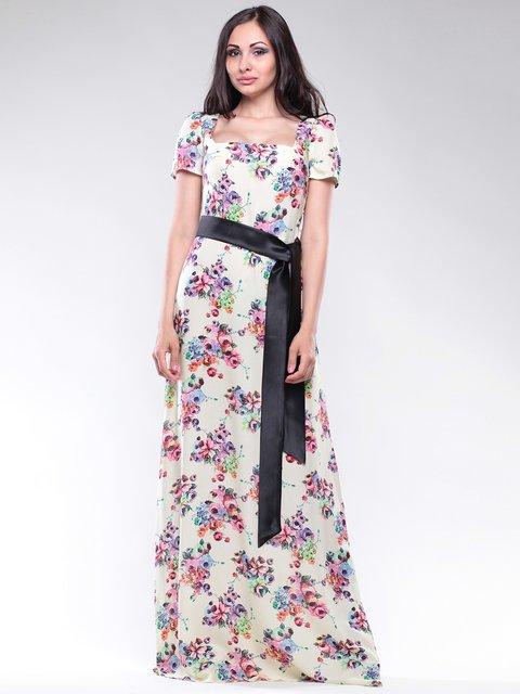 Платье в цветочный принт Maurini 2746043