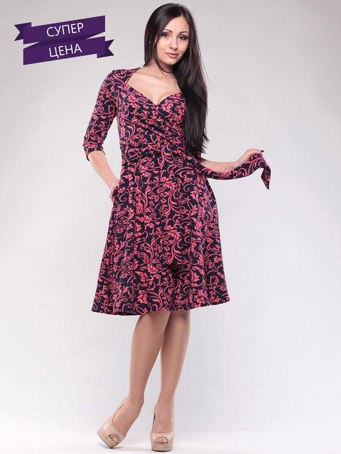 Сукня чорно-червона в принт Maurini 2648716