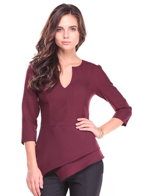 Блуза сливового кольору Dioni 2741499