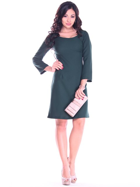 Платье темно-изумрудного цвета Maurini 2763199