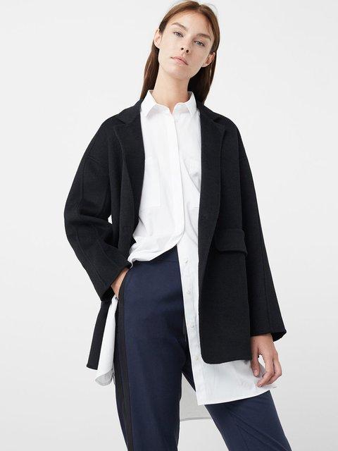 Пальто черное Mango 2706574