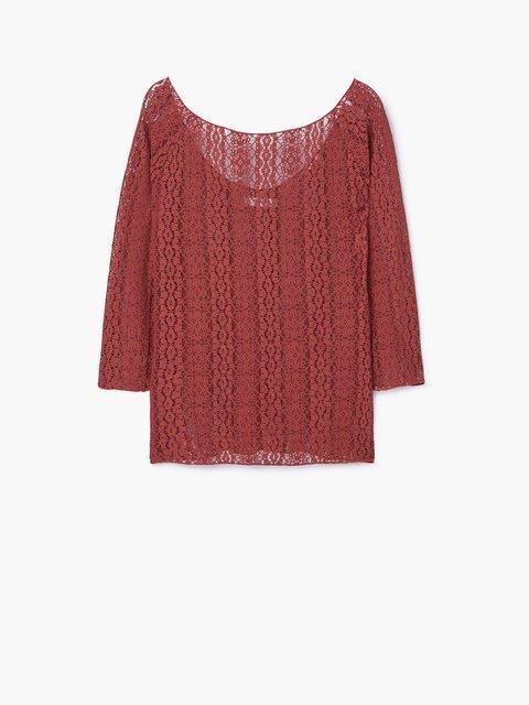 Блуза бордова Mango 2722797