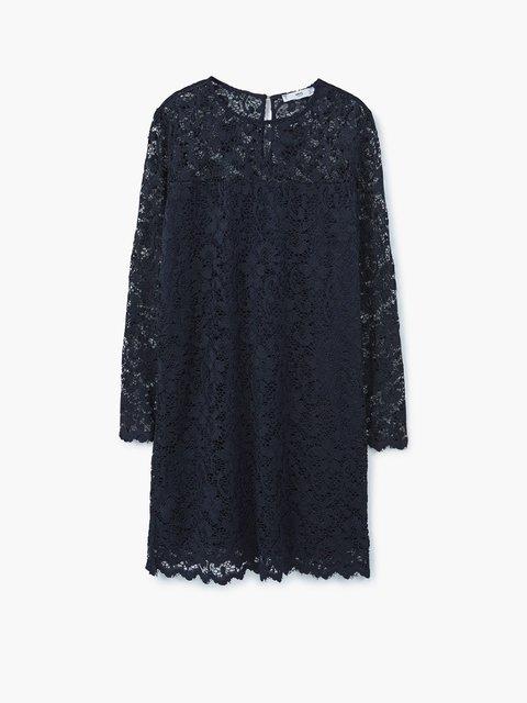 Платье темно-синее ажурное Mango 2722923