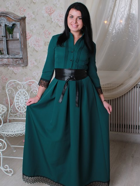Платье зеленое VSV 2782999