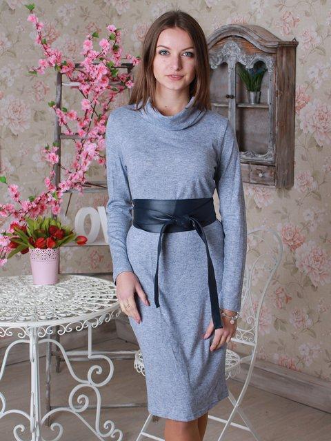 Платье серо-синее VSV 2783005
