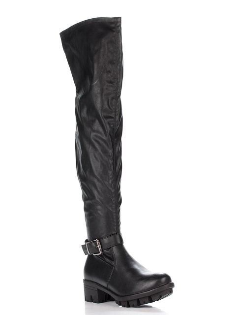Ботфорти чорні Miss Shoes 2810057