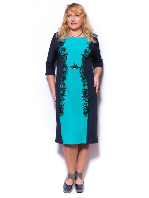 Платье сине-бирюзовое LibeAmore 2822825