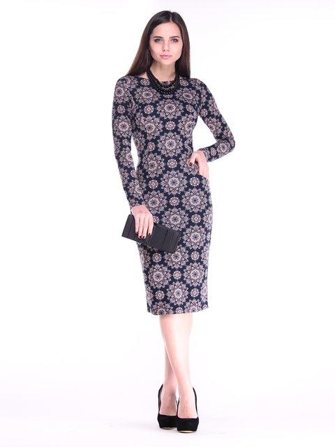 Платье черное в принт Rebecca Tatti 2849574