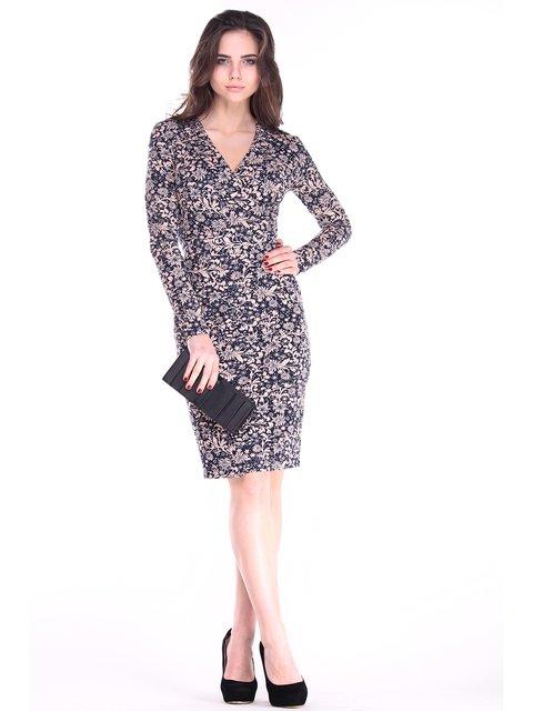 Платье черное в цветы Rebecca Tatti 2861642