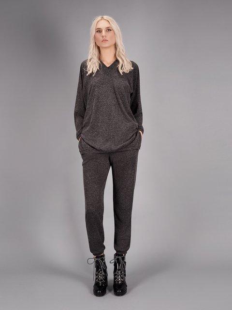 Пуловер сірий ANNA YAKOVENKO 2875512