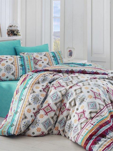 Комплект постельного белья двуспальный (евро) Nazenin Home 2893003
