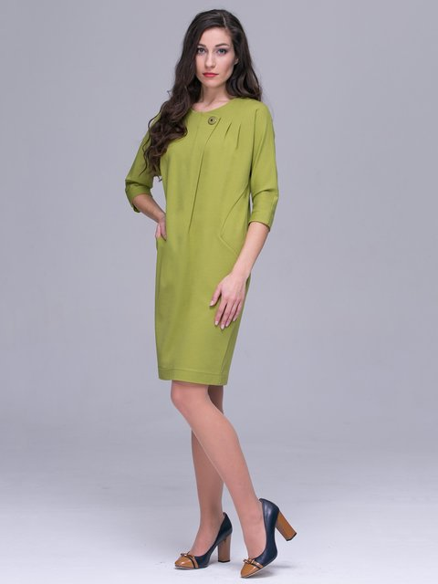 Платье оливкового цвета Jet 2914858