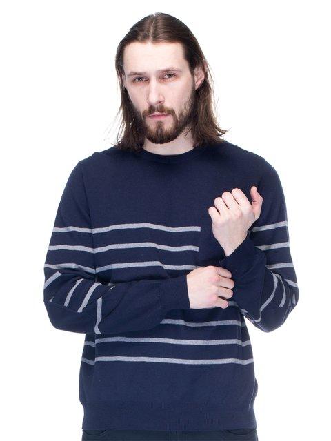 Джемпер темно-синій зі смужками Mat DE Misaine 1353685