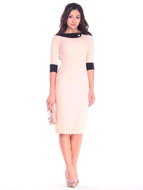 Платье бежево-черное Maurini 2784052