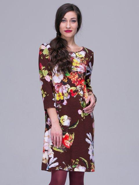 Платье бордовое в цветы Jet 2925419