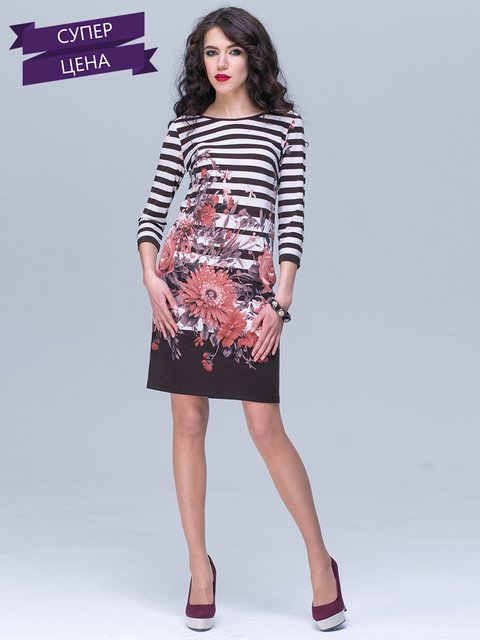 Платье в полоску и цветочный принт Jet 2216988