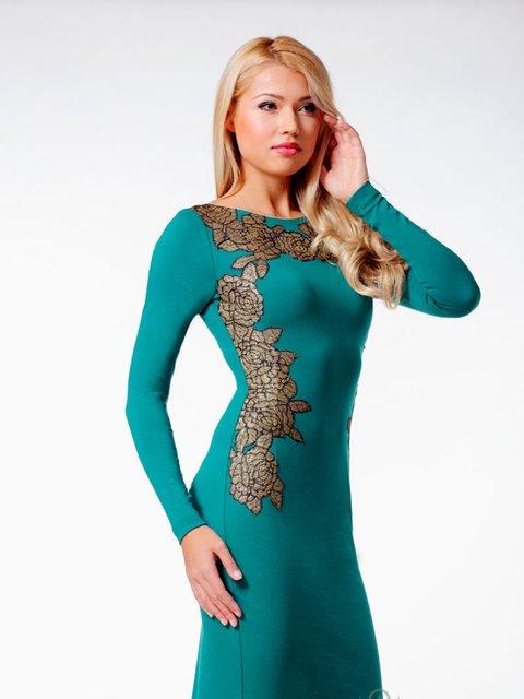 Сукня зелена з принтом Lesya 2046065
