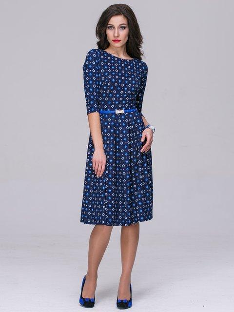 Платье синее в принт Jet 2955858