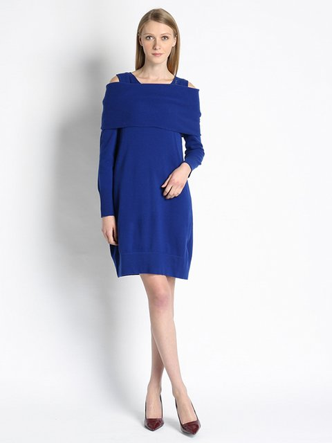 Платье синее Gattinoni 2956188