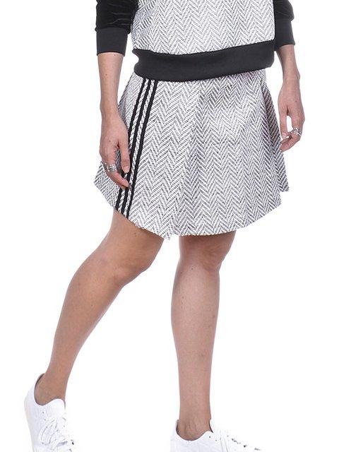 Юбка серая в принт Adidas 2956857