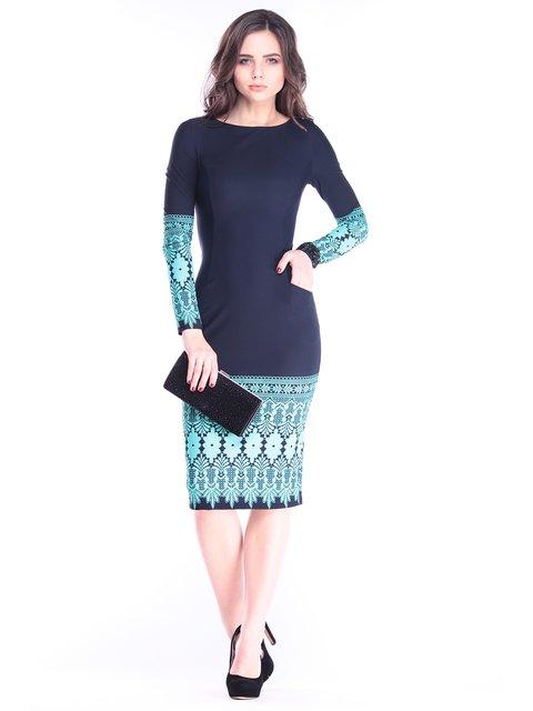 Платье темно-синее с принтом Dioni 2962780