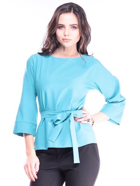 Блуза кольору зеленої бірюзи Dioni 2962825