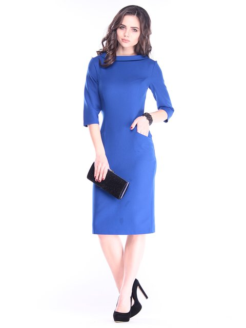 Платье цвета электрик Maurini 2962881