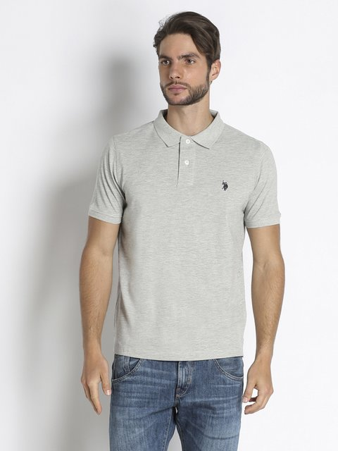 Футболка-поло серая US Polo ASSN 2440040