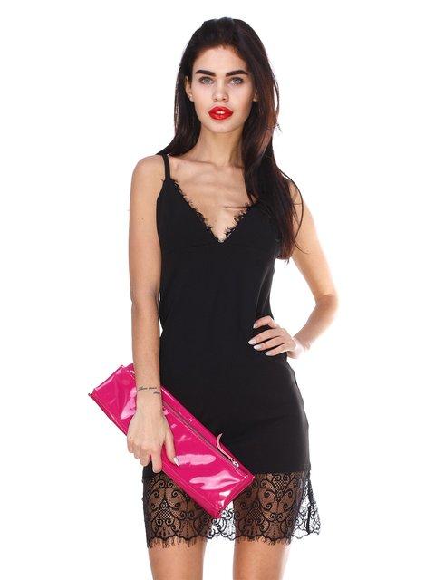 Сукня чорна з мереживом CELEBRITY 2959618