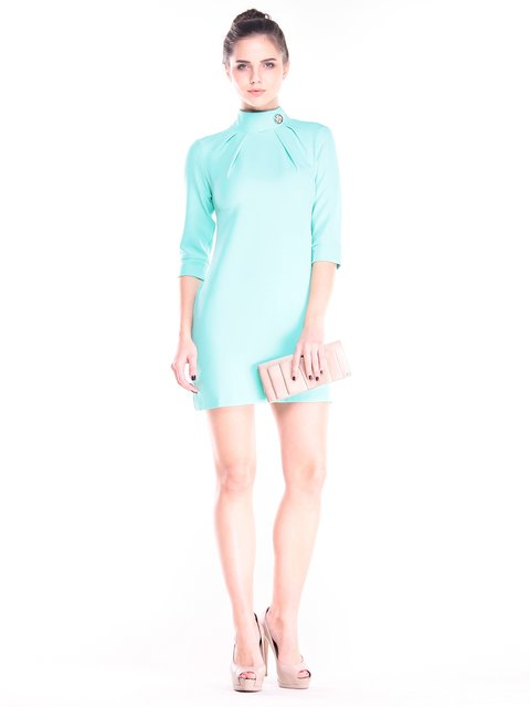 Платье ментолового цвета Dioni 2844956